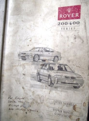 rover 200 400 diesel repair manual supplement akm7236eng listing in rh pinterest com Rover 214 250 Rover