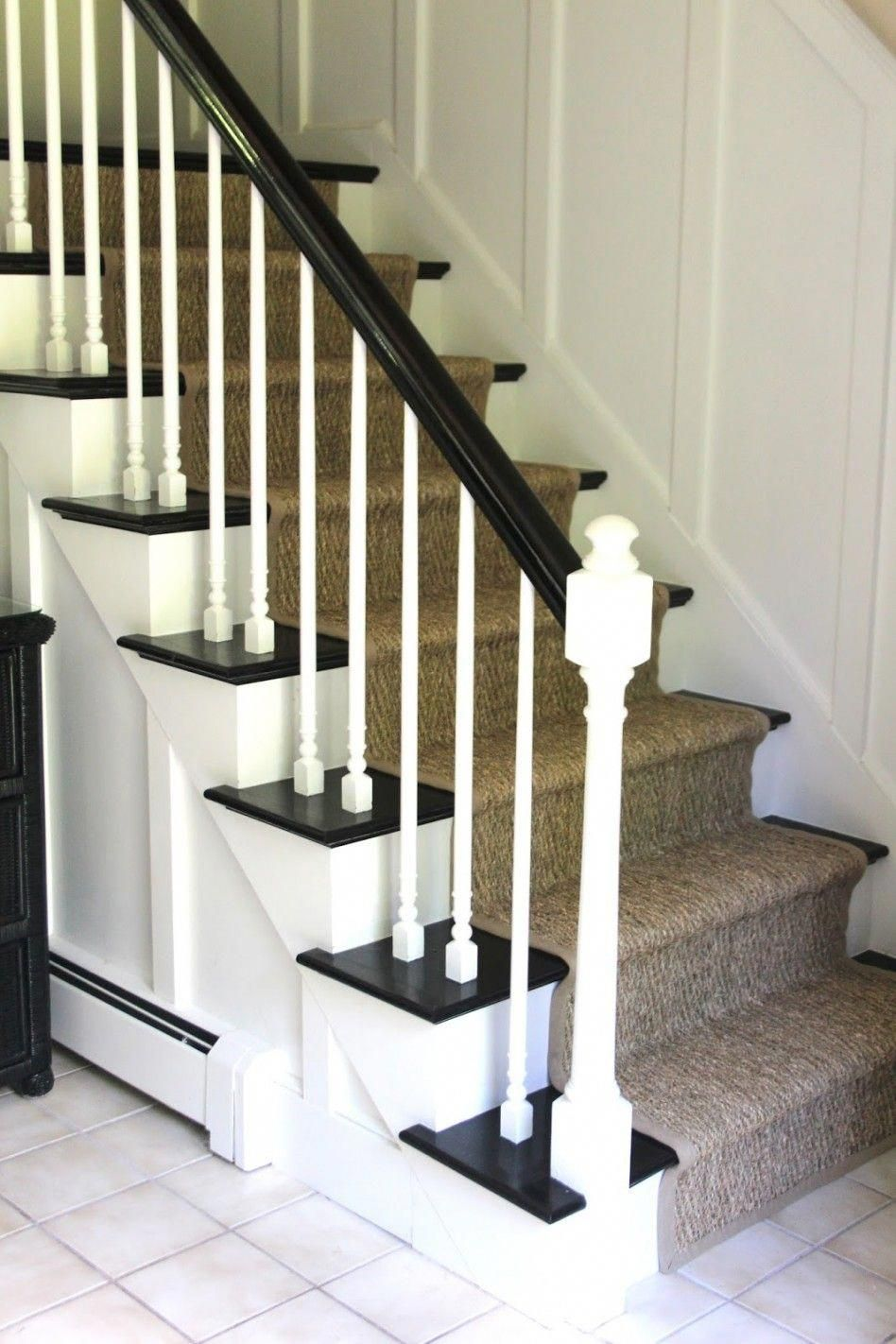 Engaging Home Interior And Staircase Design Using Stair Runner Width:  Divine Staircase For Home Interior Decoration With Dark Brown Burlap Stair  Runner ...
