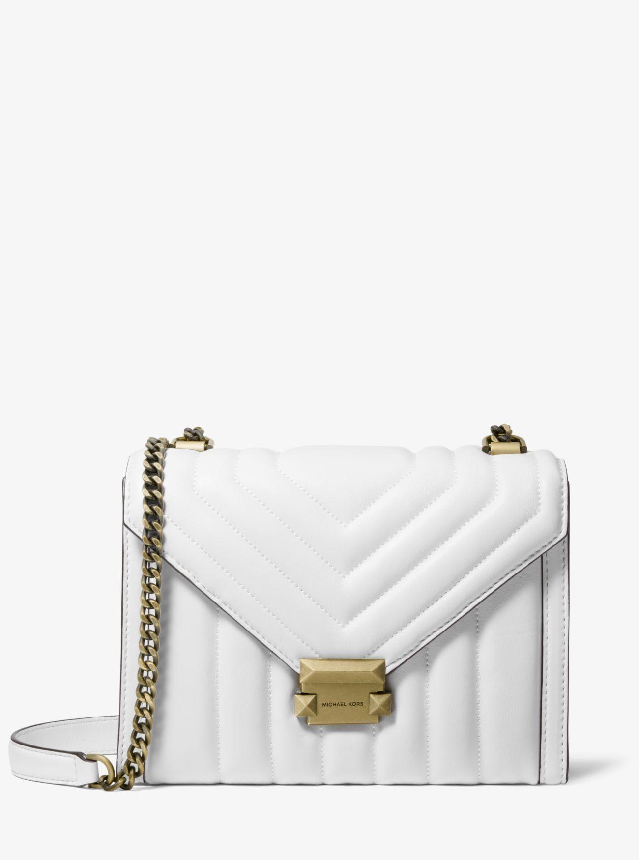 2c6075477 Whitney Large Quilted Leather Convertible Shoulder Bag - Multicolor - Michael  Kors Shoulder bags