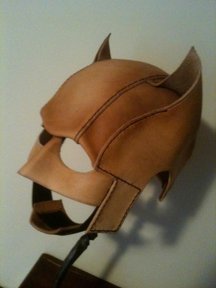 Batman Cowl Process | Batman cowl, Leather armor, Leather