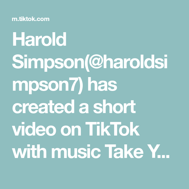 Harold Simpson Haroldsimpson7 Has Created A Short Video On Tiktok With Music Take Your Time Old School Club Lets Do Linkedin Tips Music Mix Music