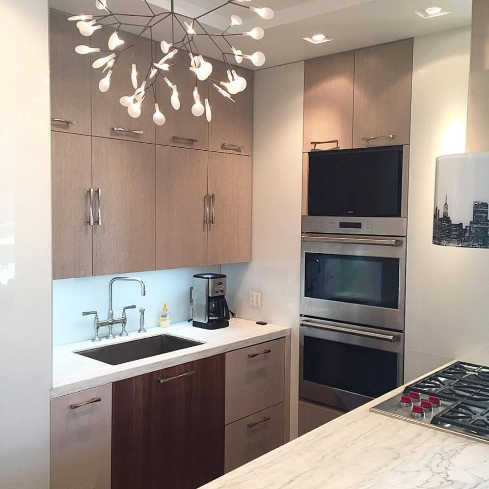 Gray Custom Kitchen By Prowood Inc Cabinet Maker Nyc In Prospect Park Brooklyn Kitchendesign Cabin Custom Kitchen Cabinets Custom Kitchens Kitchen Design