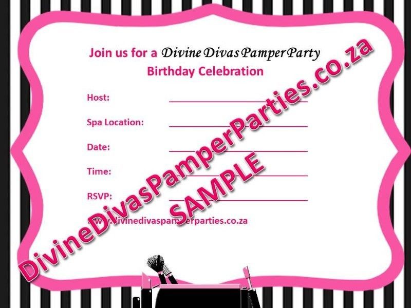 Pamper Party Invitations | Centurion | Gumtree Classifieds South ...