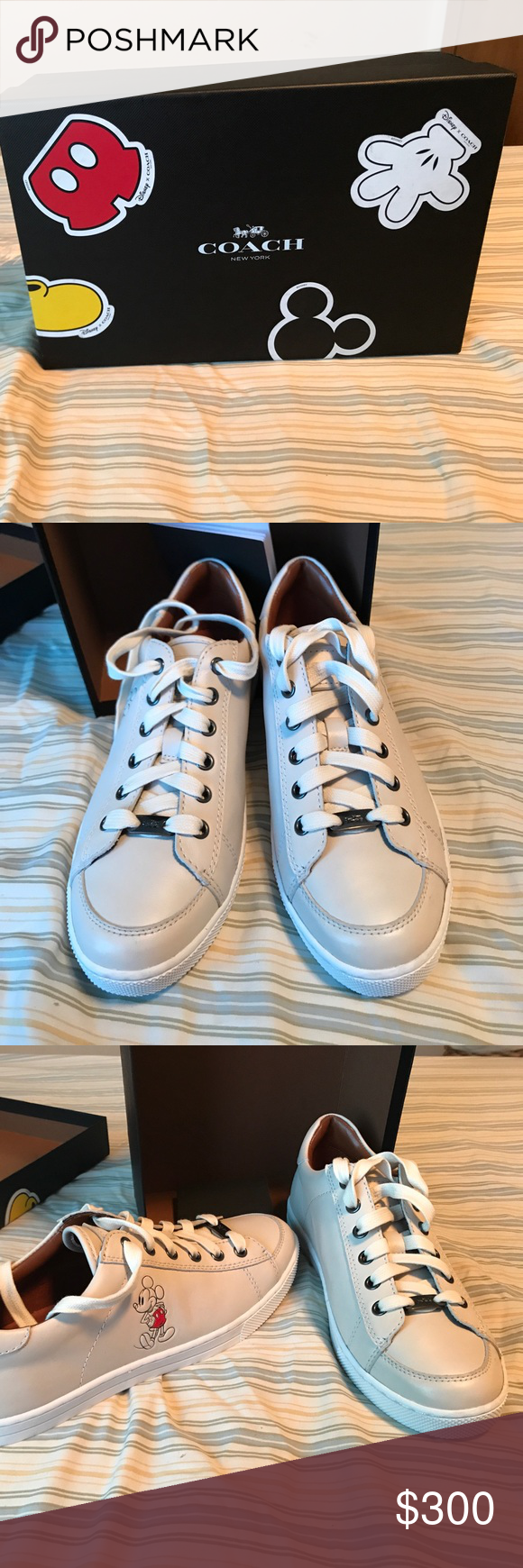 cce55d6a9534 Coach Mickey Mouse limited edition sneaker New with box once limited  edition Mickey Mouse coach sneaker