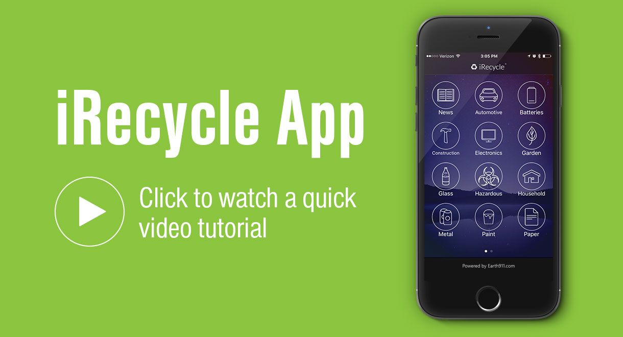 Download the irecycle app earth911 recycle mobile app