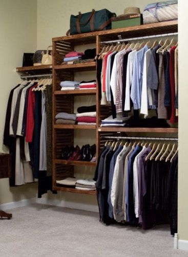 John Louis Home Deluxe 16 Inch Deep Closet Shelving System Storage
