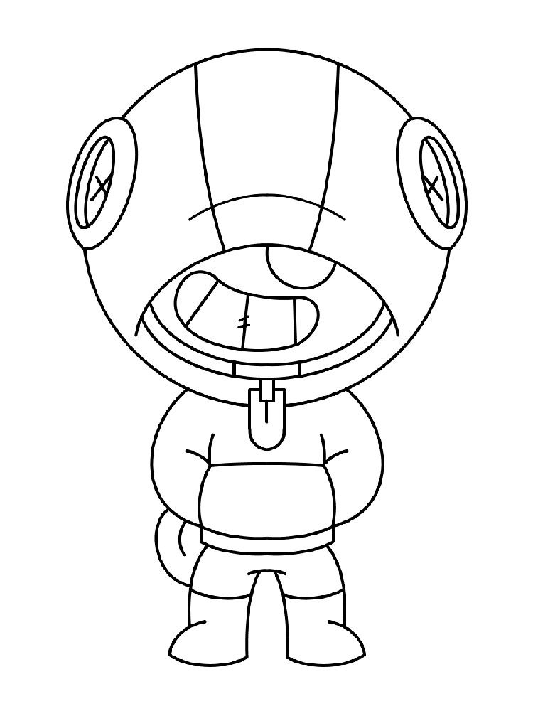 Brawl Stars Leon Coloring Pages For Kids Star Coloring Pages Coloring Pages Star Art