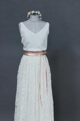 Tüllrock lang, Ivory, im Boho Stil - Lizy   Kleidung ...