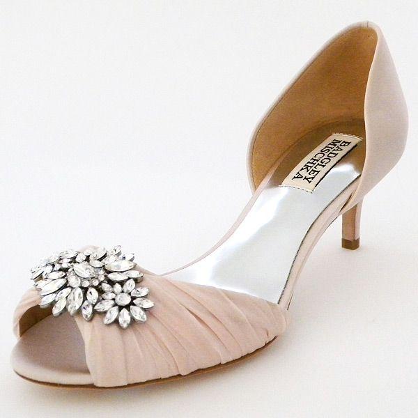Nice Badgley Mischka Caitlin Pink Badgley Mischka Wedding Shoes A sophisticated shade of pink