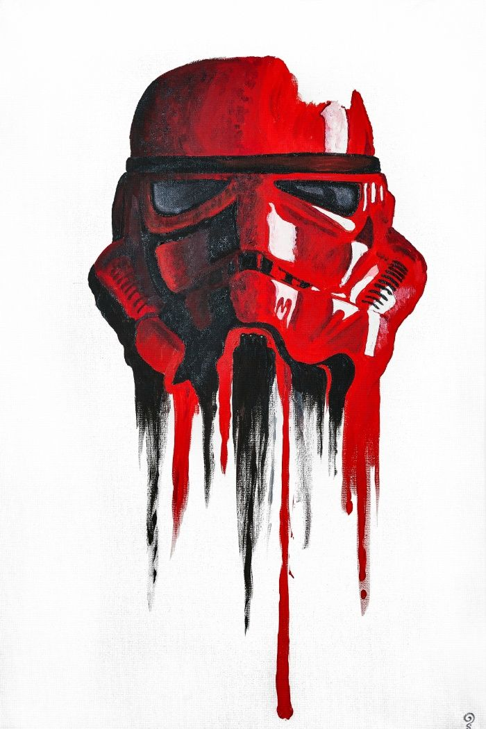 Procrastination In Red 1 Art Print By Smafo Society6 Star Wars Poster Star Wars Painting Star Wars Drawings