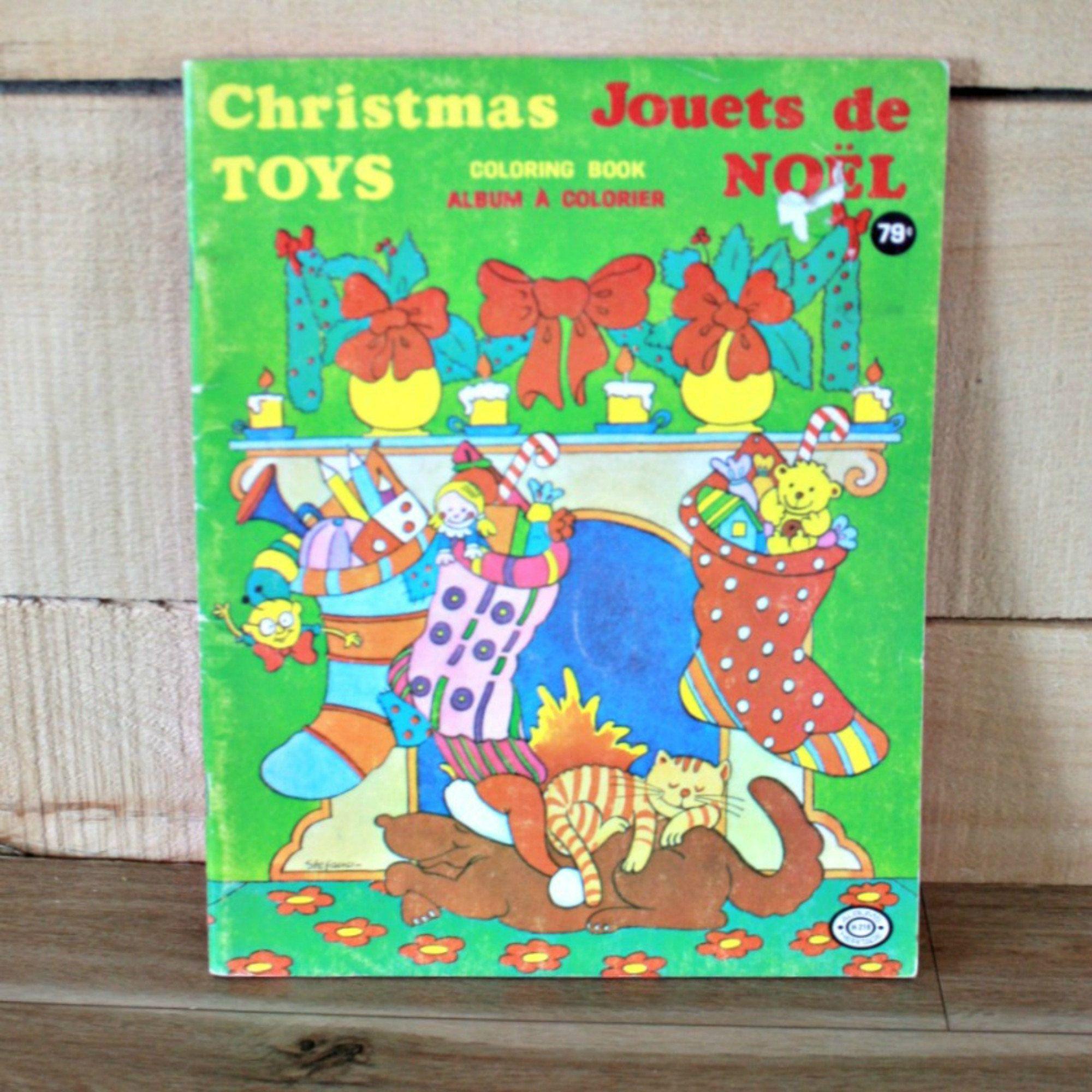 Livre De Coloriage De Noel Album De Noel Livre De Coloriage Retro