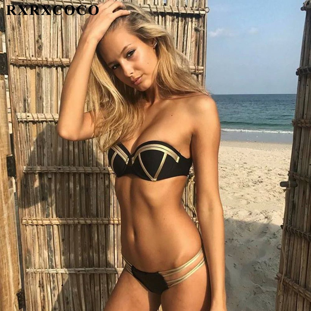 fcbb8d8d7251c RXRXCOCO Sexy Push Up Bandage Bikini 2018 Hot Swimwear Women Bathing Suit  Push Up Brazilian Bikini Swimsuit Thong Bikinis Women