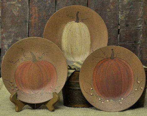 Decorative Pumpkin Plates Hearthside Collection-Pumpkin Plate Fall Decorations Primitive Pumpkins Hearthside & Decorative Pumpkin Plates Hearthside Collection-Pumpkin Plate Fall ...