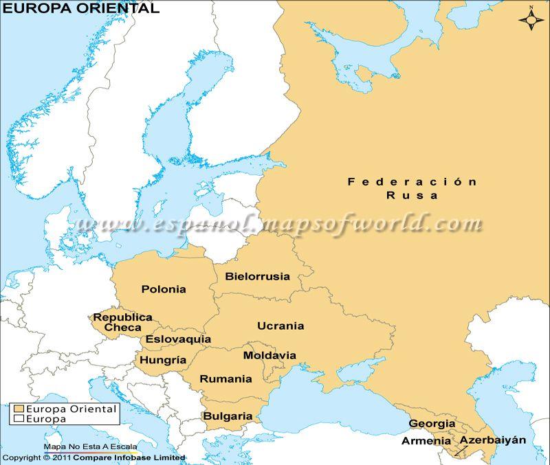 Mapa Europa Del Este.Mapa De Europa Oriental Mapa De Europa Mapa Politico De