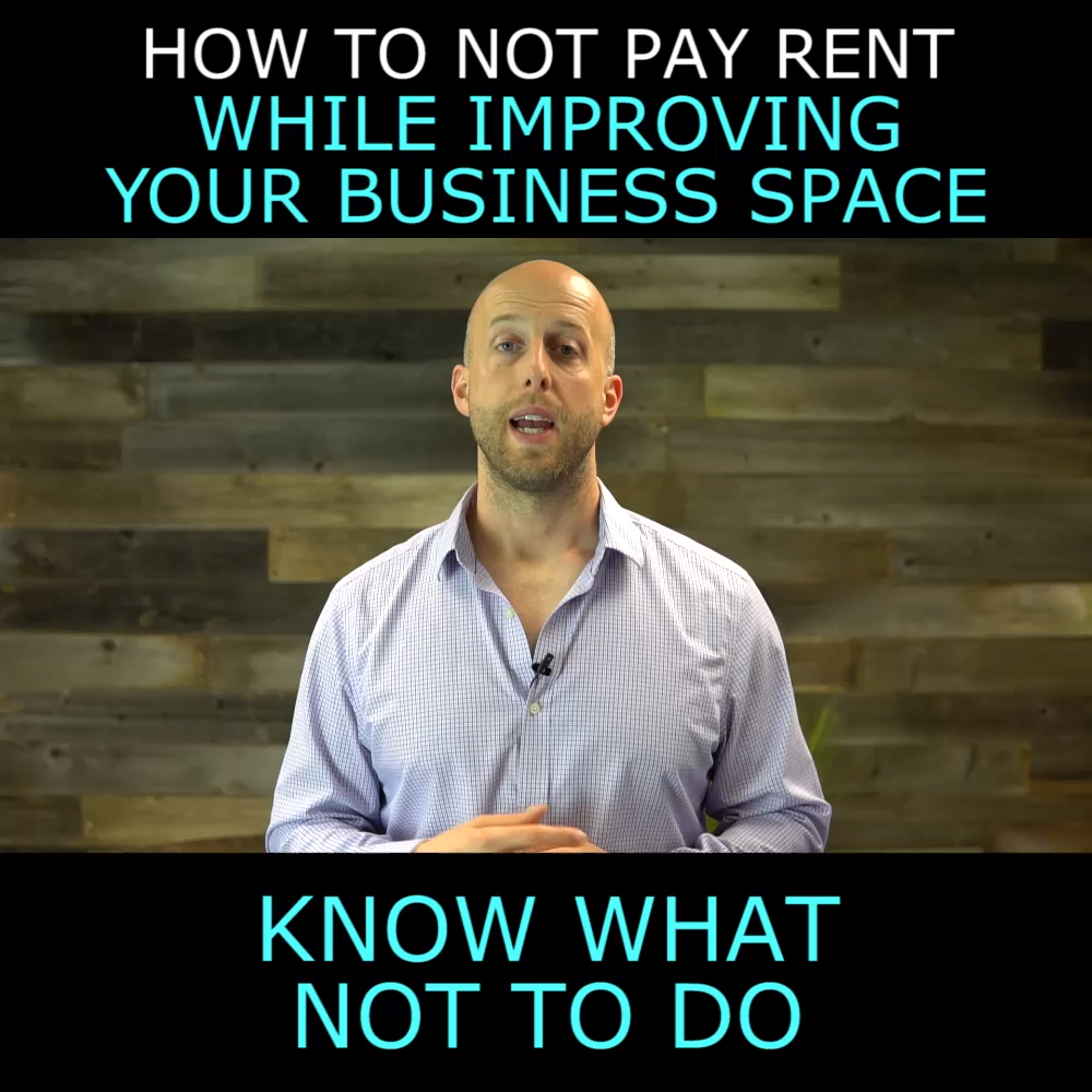 Free Rent Is A Typical Lease Concession Take Advantage Of It Video Lease Retail Space For Lease Commercial