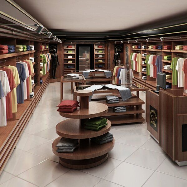 Clothing Store interior Render Ready