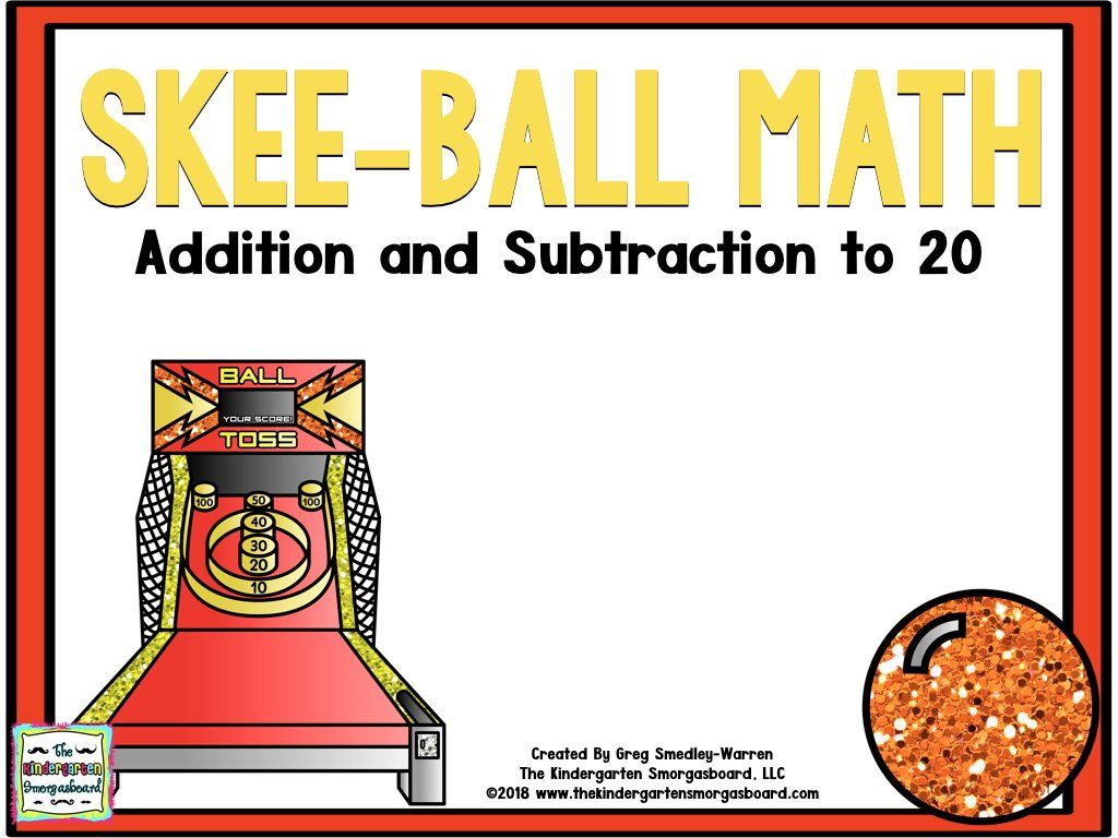 Skee Ball Math Addition And Subtraction To 20