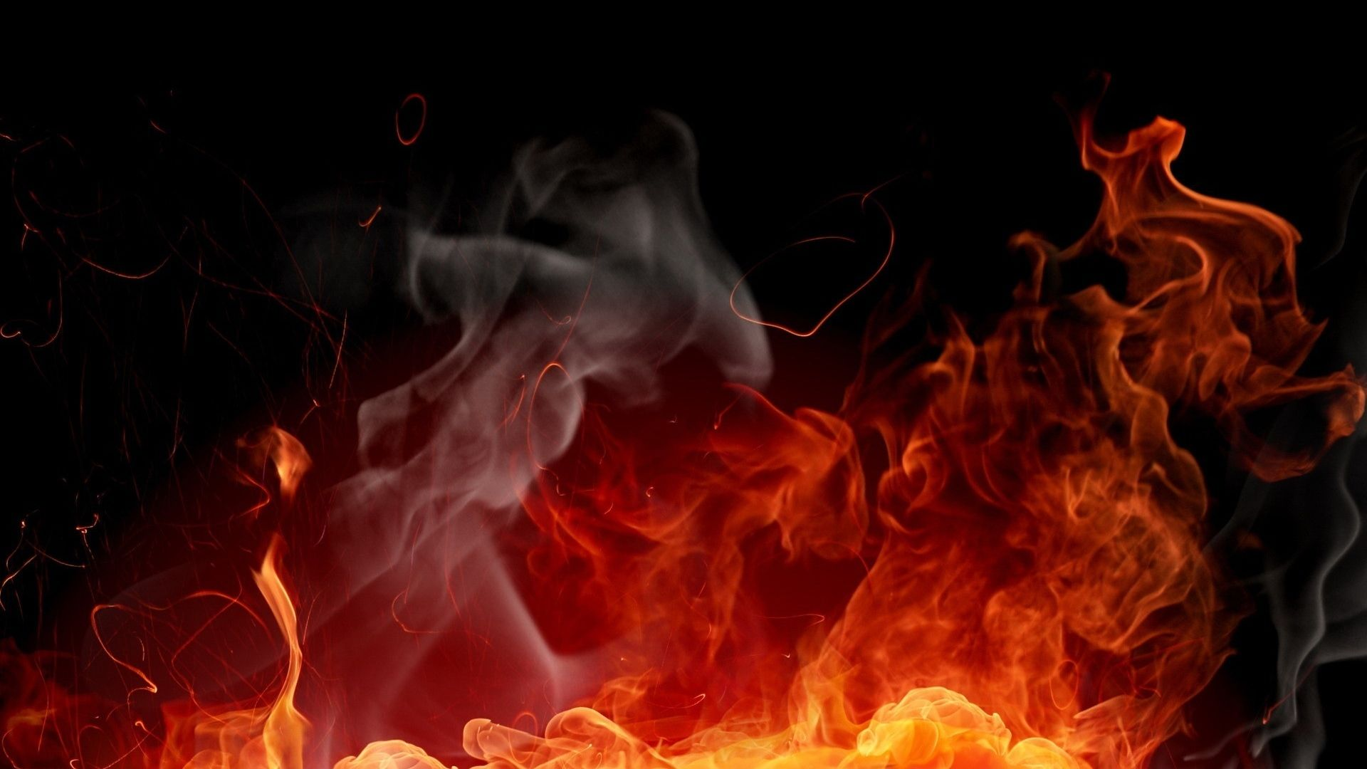 wallpaper flame burn spark