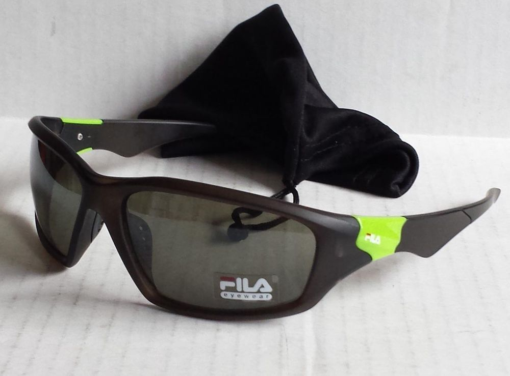 FILA sport sunglasses SF207 black black pouch NWT