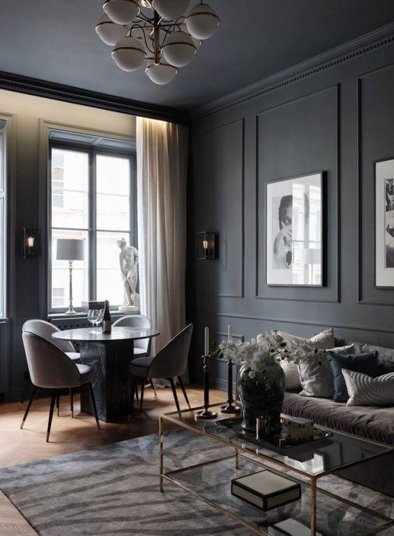 Photo of Design noir pour un appartement de deux-pièces de 56m2 – PLANETE DECO a homes world