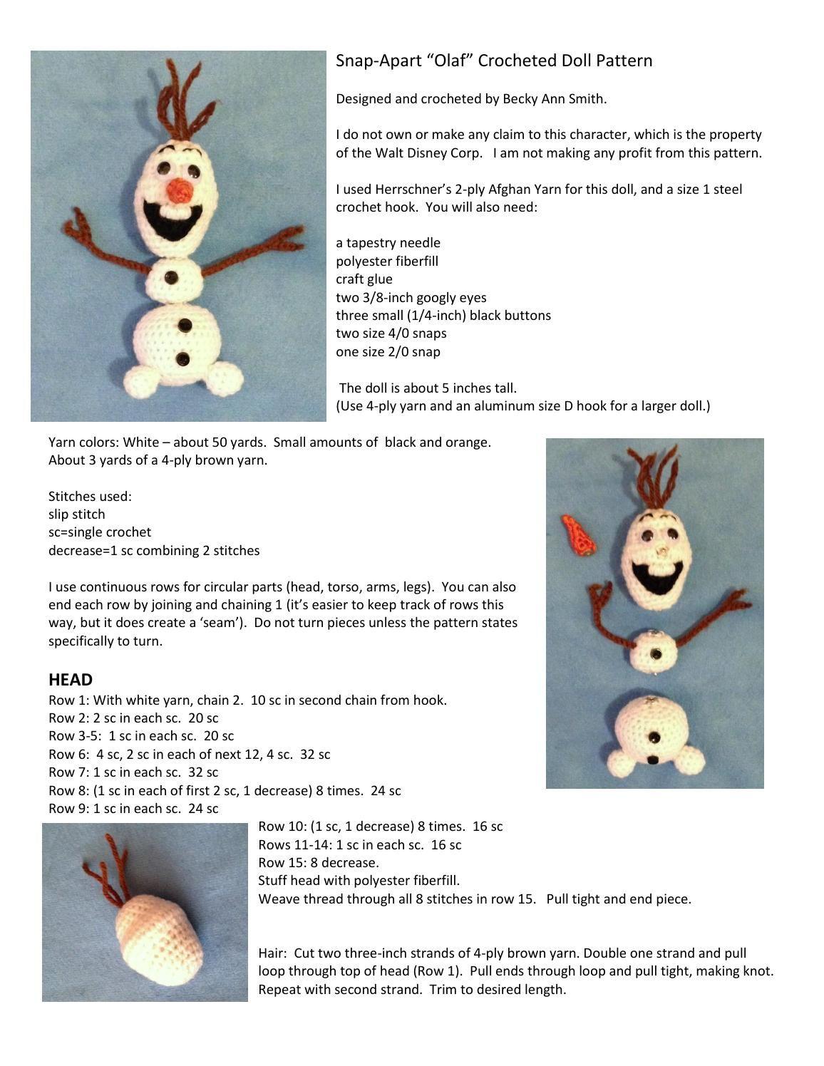 Olaf | Amigurumi,Toys,Etc. | Pinterest | Olaf, Amigurumi and Crochet