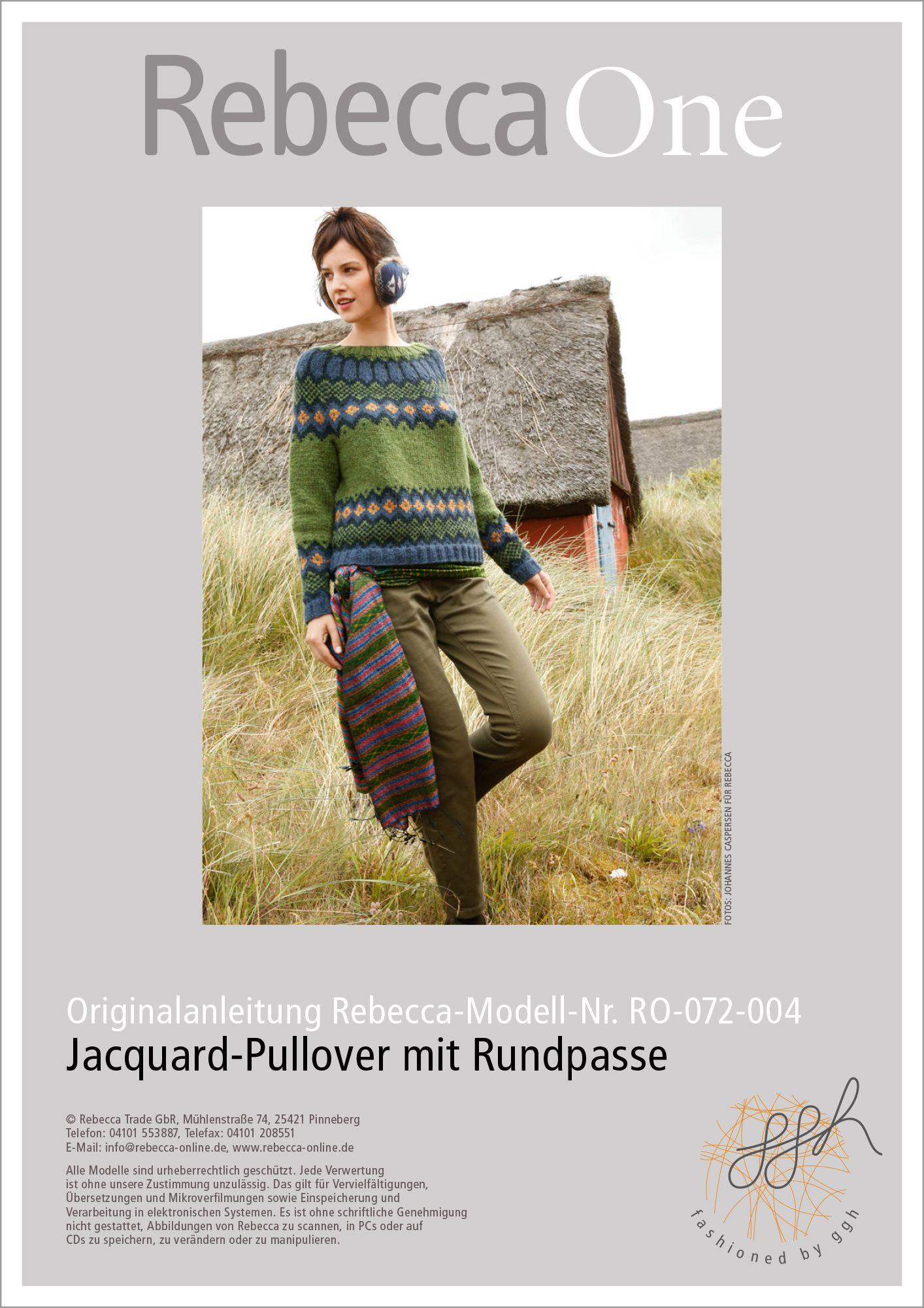 Strickanleitung Jacquard Pullover mit Rundpasse   Stricken