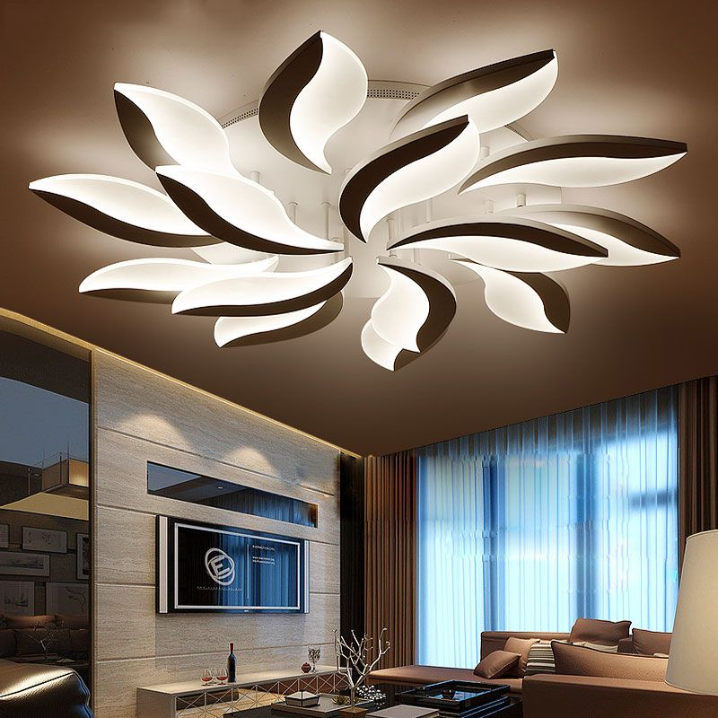 New Design Acrylic Modern Led Ceiling Lights For Living Study Room ...