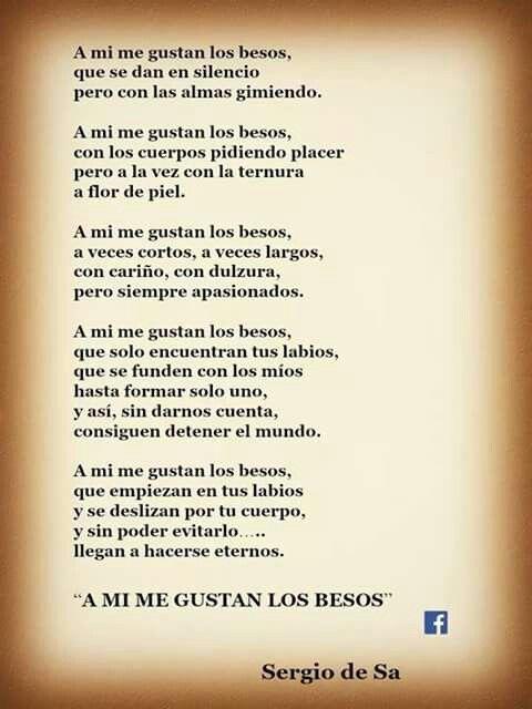 A Mí Me Gustan Los Besos Poemas De Besos Frases De Besos Besos