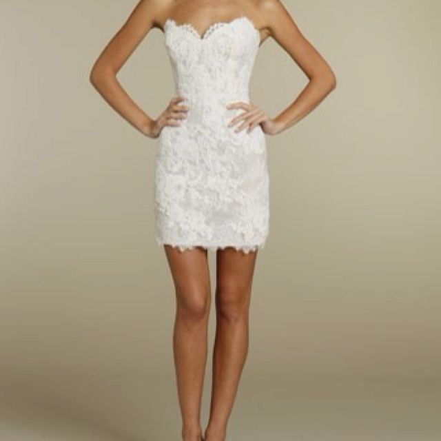 Short Reception Dress From Long Wedding Or Rehearsal Dinner