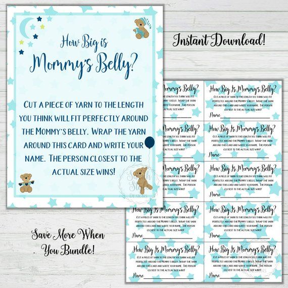 Baby Shower 9 Game Bundle Boy Baby Shower Games Party Pack