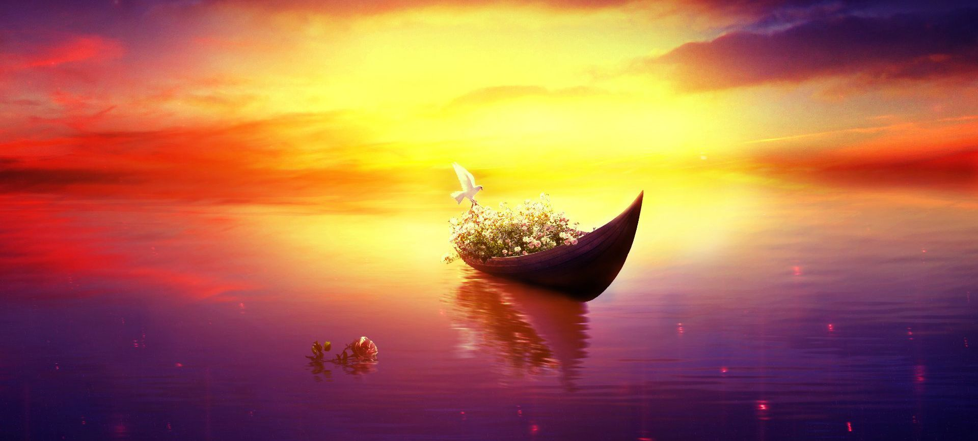 Simple Aesthetic Warm Lake Background Poster Simple Aesthetic Background Background Images