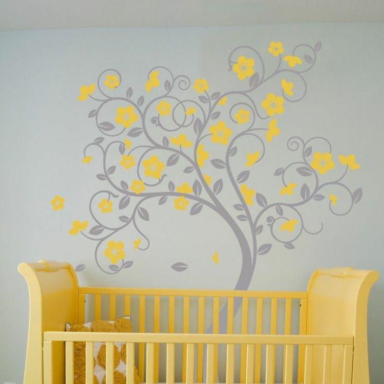 stickers-arbre-gris-jaune-branches-arabesques-chambre-bébéjpg (750