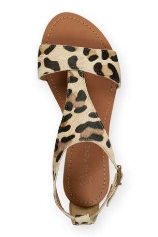 next leopard sandals