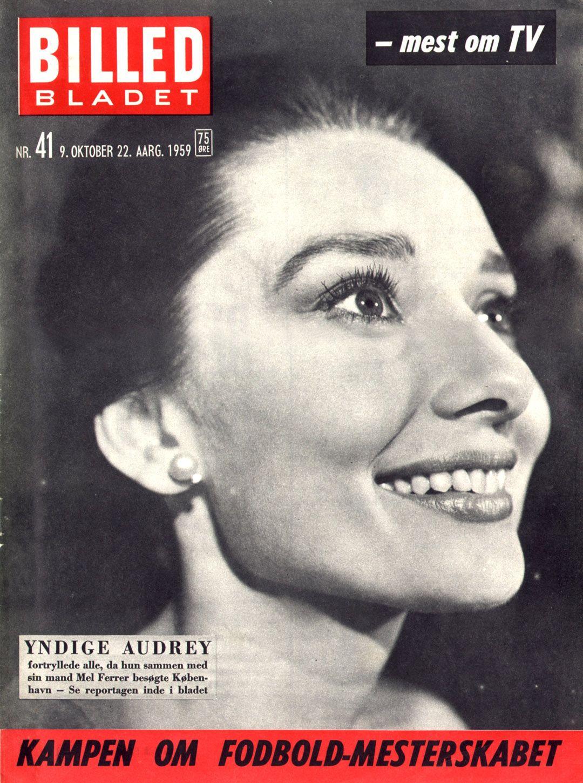 Rare Audrey Hepburn — Audrey Hepburn on the cover of Billed...