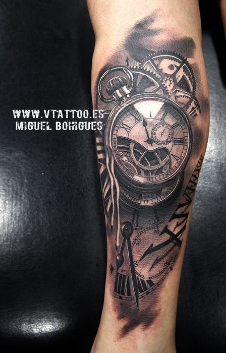 Miguel Bohigues Idees De Tatouages Tatouage Horloge Tatouage