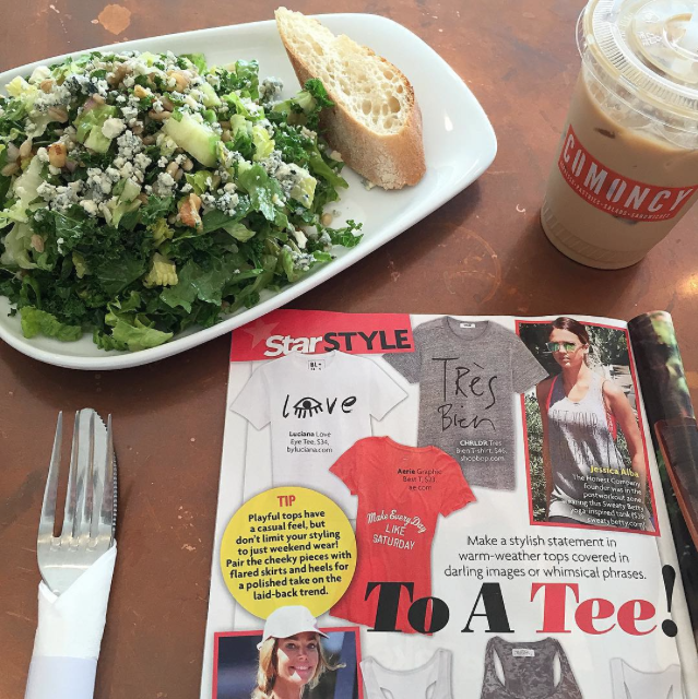 Delicious #lunch at #comoncy in #studiocity today! And check out this darling inclusion for #Luciana in the latest issue of #StarMagazine too!
