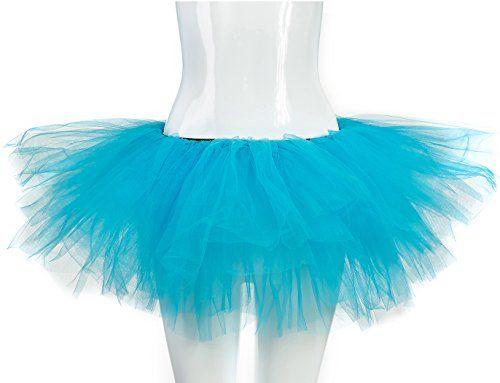 Belababy Women Tutu Skirt 5 Layers Tulle For Halloween Dress Up