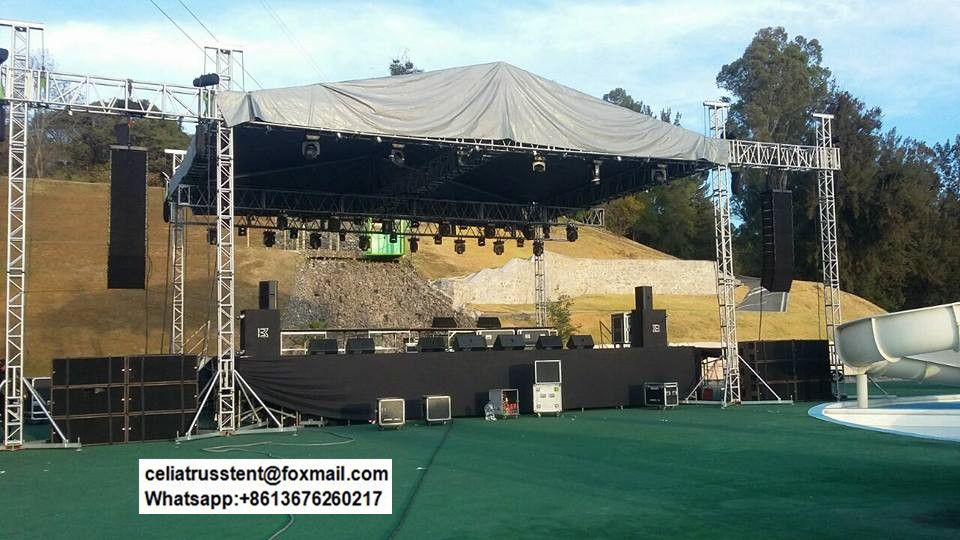 Concert Stage Roof Truss Roof Trusses Roof Truss Design Roof
