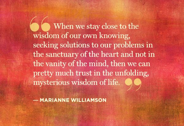 Seek solutions to your problems in the sanctuary of heart and not in the vanity of the mind, and then you can trust the unfolding mysterious wisdom of life...