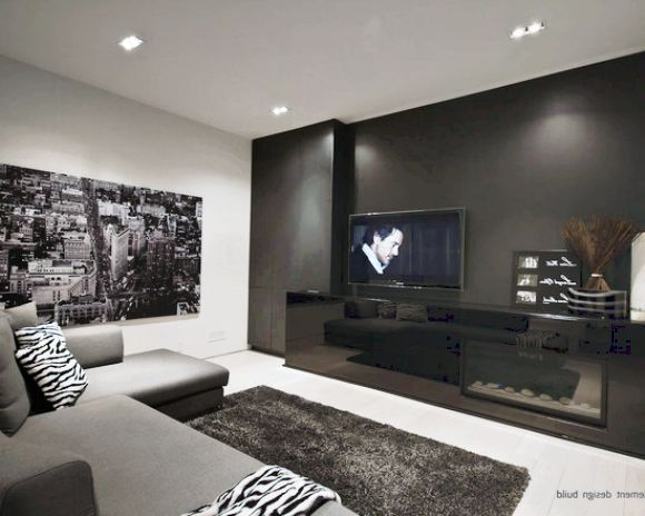 Nice And Cozy Living Room With Black, White, And Grey Color Scheme.   Living  Room   Pinterest   Cozy Living Rooms, Living Rooms And Living Spaces