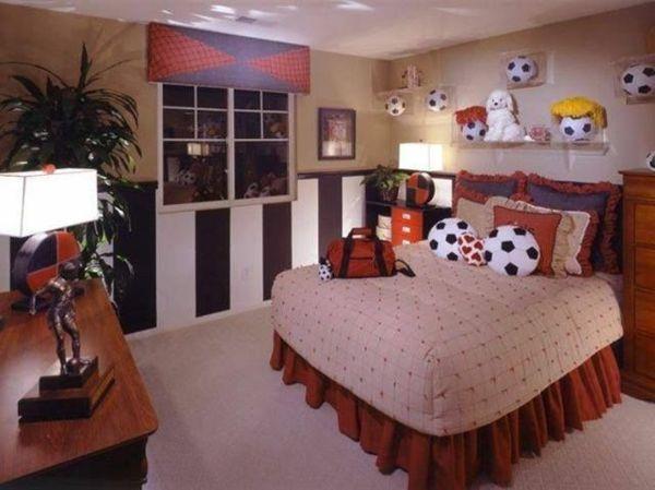 125 großartige Ideen zur Kinderzimmergestaltung - fußball - bett im wohnzimmer ideen