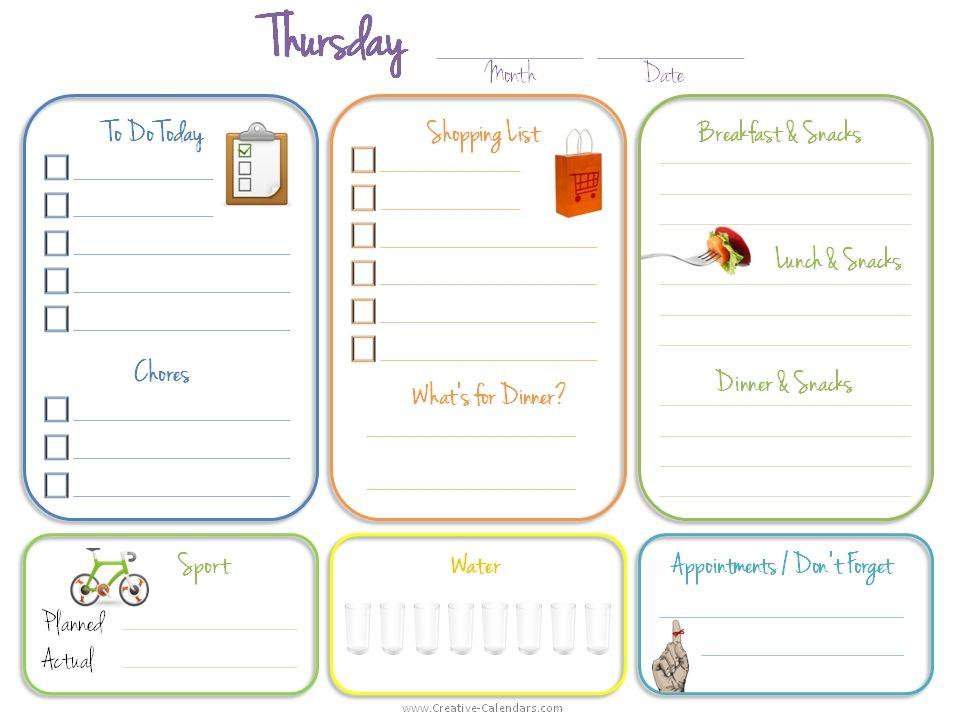daily-calendarjpg (960×720) label ideas Pinterest Book - daily calendar printable