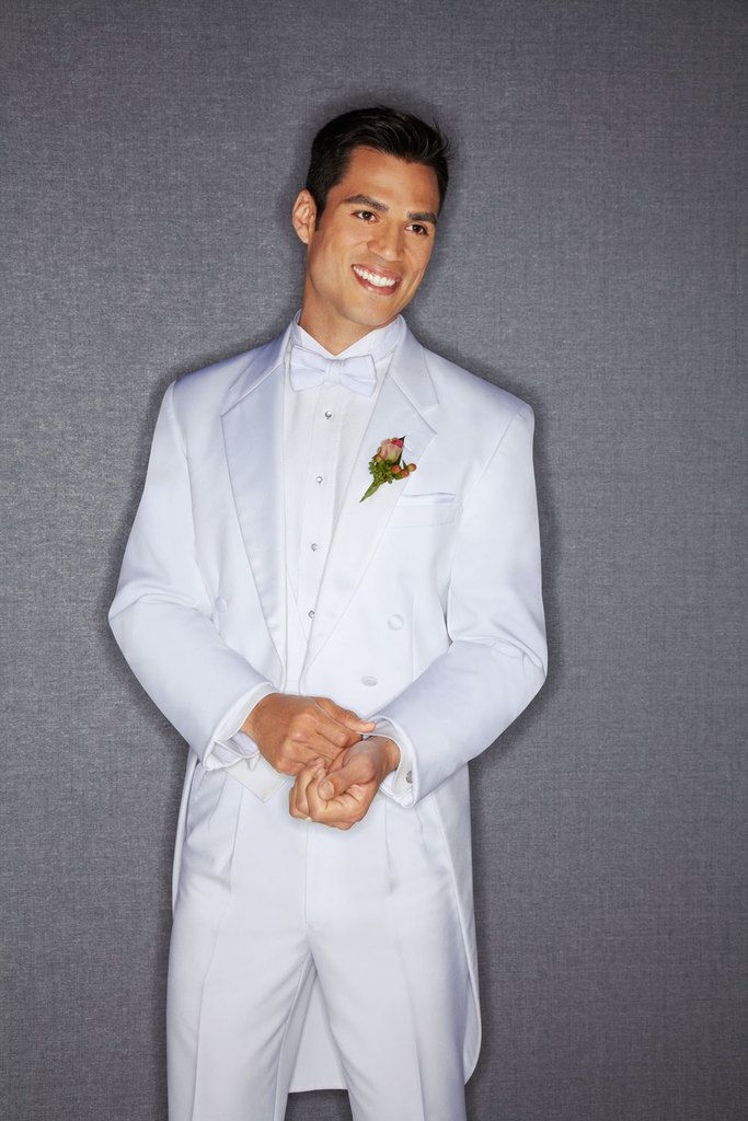 Would you wear an all white tux on your wedding day like this piece ...