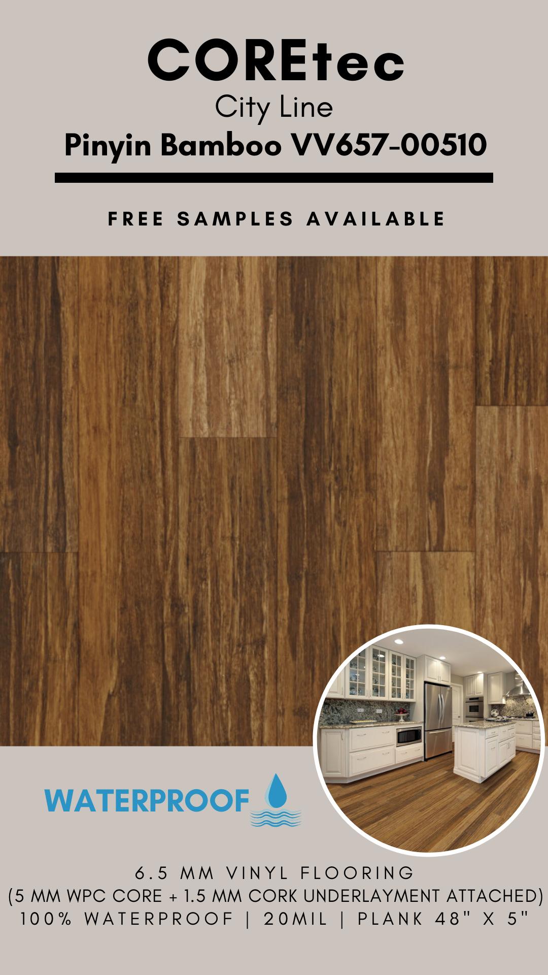 Coretec Plus 5 Wpc City Line Plank Pinyin Bamboo Vv657 00510 Vinyl Flooring Special Buy In 2020 Vinyl Flooring Flooring Coretec Plus Flooring