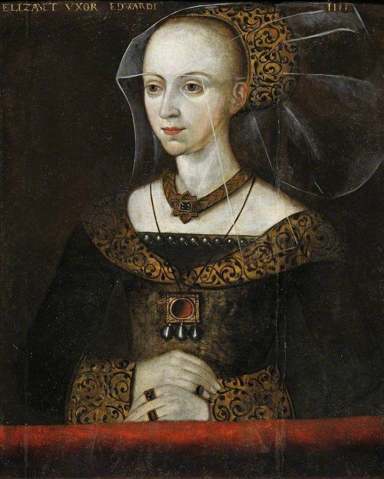 Elizabeth Woodville Queen of Edward IV, mother of Elizabeth of ...