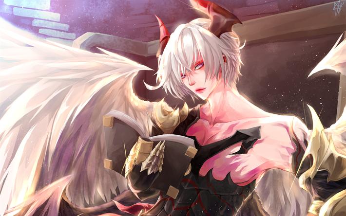 Download wallpapers Lucifer, 4k, manga, art, Shingeki no
