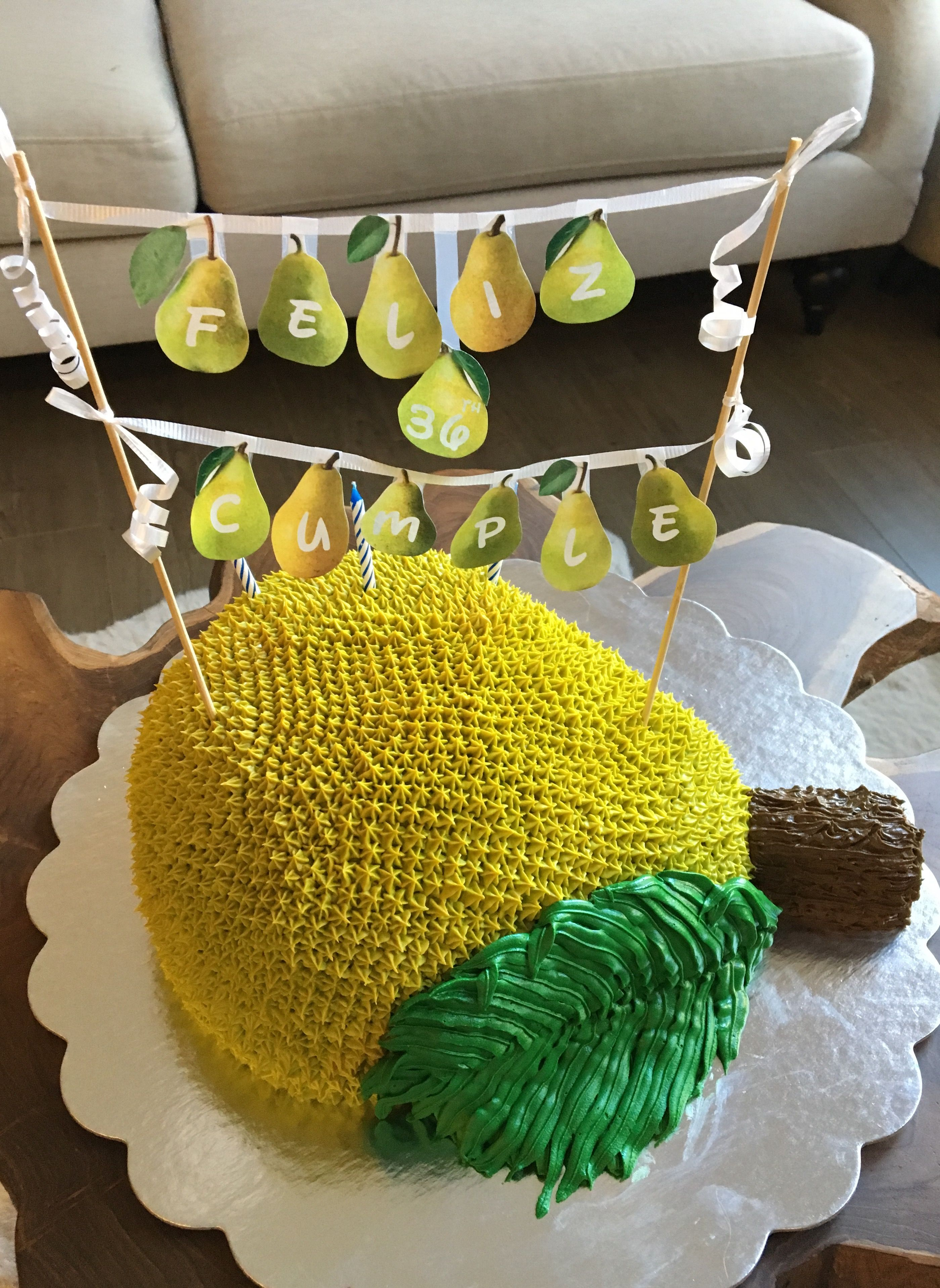 Pear Birthday Cake Birthday Cakes Pinterest Birthday Cakes