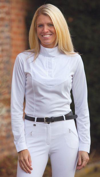English Tack Store - Shires Ladies Long Sleeve Show Shirt (http://www.englishtackshop.com/shires-ladies-long-sleeve-show-shirt/)