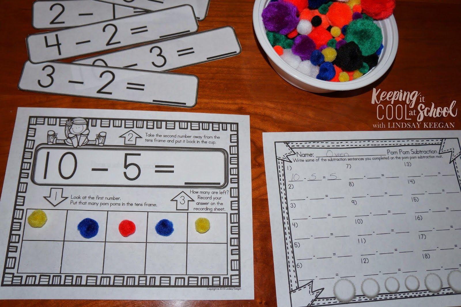 Pom Pom Power Having Fuzzy Fun In Math Centers Fun