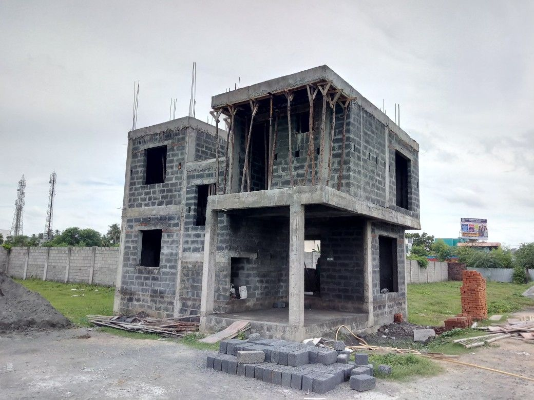 Type 3 Villa 3 Bhk With 2 Car Parking Wall Exterior Gated Community Flush Doors